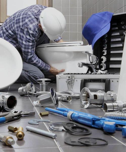 wymiana montaż toalety wc ubikacji gdynia